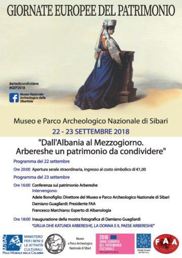 """Sibari, Museo e Parco Archeologico Nazionale:""""Dall'Albania al mezzogiorno. Arbereshe, un patrimonio da condividere"""""""