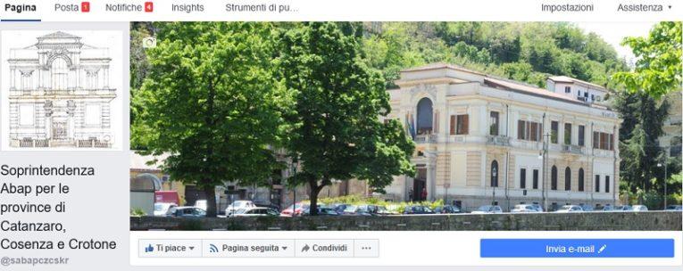 """La  Soprintendenza Abap per le province di Catanzaro, Cosenza e Crotone diventa """"social"""":"""