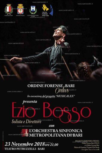 Bari: Ezio Bosso dirige l''Orchestra Sinfonica della Città Metropolitana al Petruzzelli