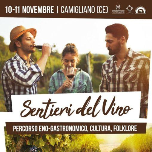 """Camigliano (CE): 10-11 novembre""""Sentieri Del Vino"""", visite guidate, percorsi enogastronomici, pigiatura dell'uva a piedi nudi, musica ed artisti di strada"""