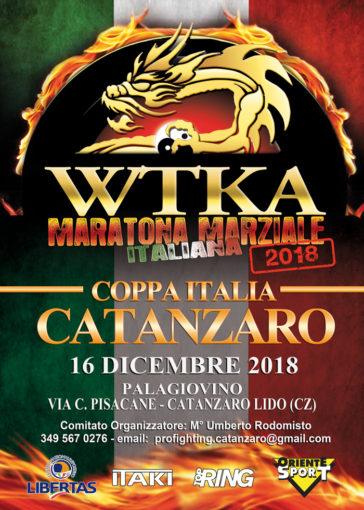 Domenica 16 a Catanzaro la Coppa Italia di Kickboxing