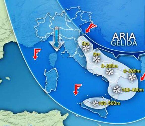 Continuerà l'ondata di freddo gelido che ha investito l'Italia