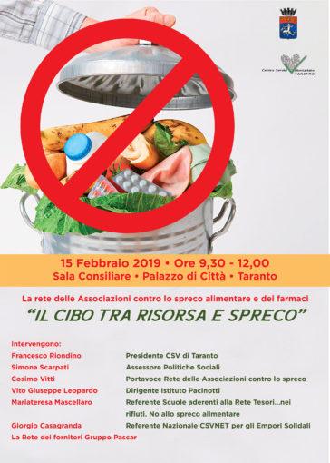 """Nasce la rete """"Spreco zero Taranto"""", iniziativa per ridurre lo spreco di alimenti e farmaci"""