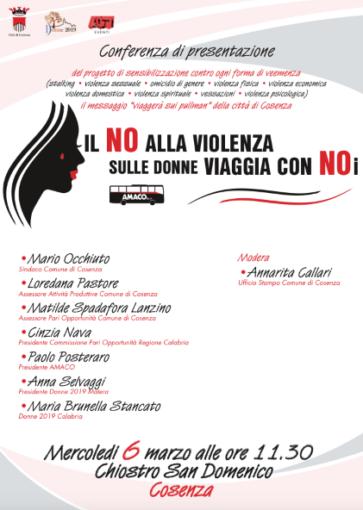 Cosenza, Festa internazionale della Donna: il messaggio contro ogni forma di veemenza sulla donna viaggia su Amaco. Il 6 marzo la presentazione del progetto