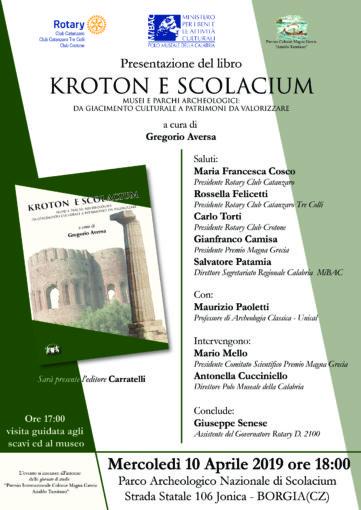 """""""Kroton e Scolacium"""" è il titolo del volume che sarà presentato, a cura del Rotary, il prossimo 10 aprile"""