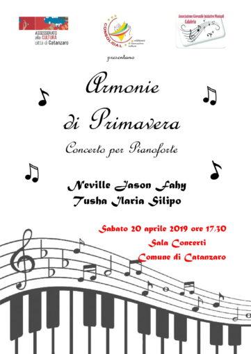 Armonie di primavera, il concerto per pianoforte organizzato a Catanzaro da Consolidal e Agimcal