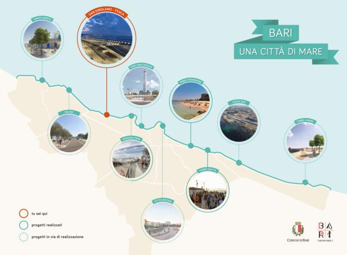Bari, dieci cartelli per raccontare la città del mare