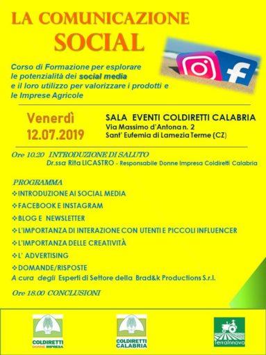 A Lamezia Terme corso di social web marketing per l'agricoltura