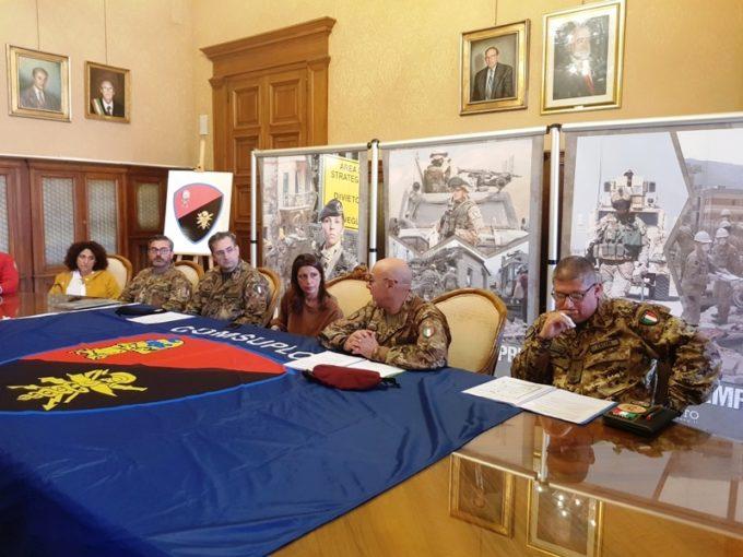"""Bari: presentata l'esercitazione nazionale dell'esercito """"Atlante 2019-Auriga 19"""""""