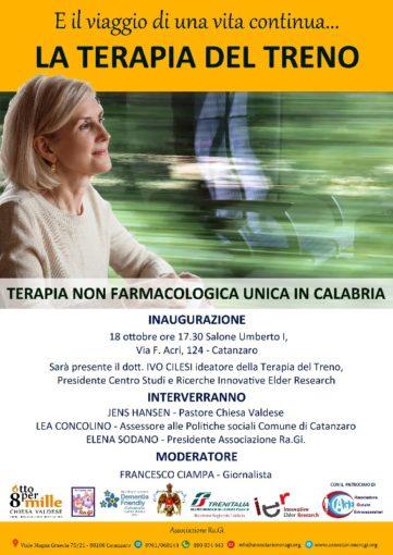 """Catanzaro: all'Umberto I presentazione della """"Terapia del treno"""""""