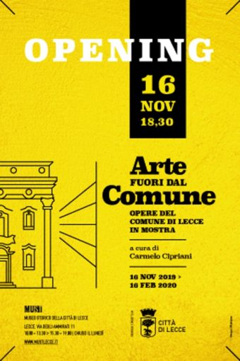 """Lecce: al Must dal 16 novembre la mostra """"Arte fuori dal Comune"""""""