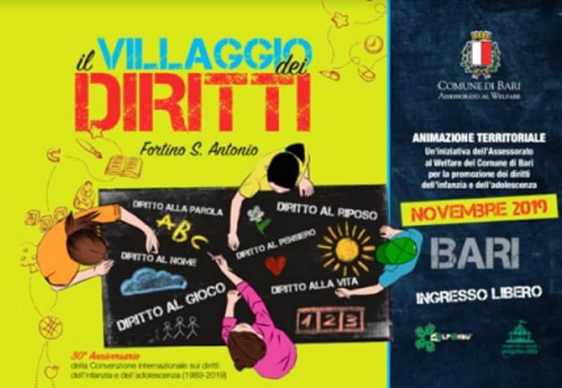 """Bari: si inaugura il """"Villaggio dei diritti"""" per promuovere i diritti dell'infanzia"""