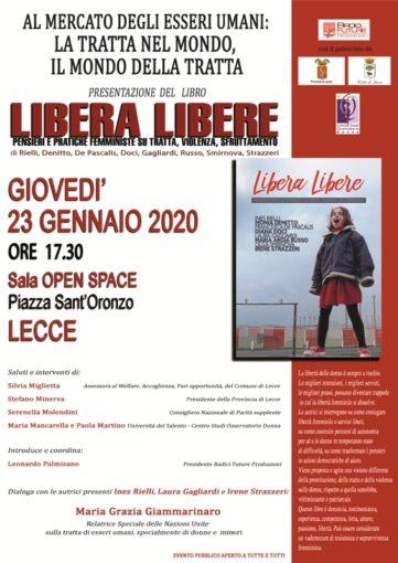"""Lecce: presentazione del libro """"Libera Libere - Pensieri e pratiche femministe su tratta, violenza, sfruttamento"""""""