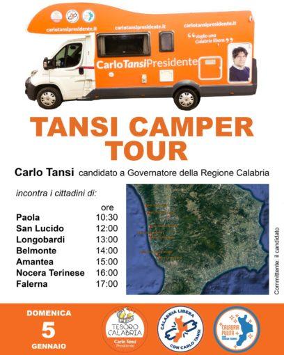 Carlo Tansi, candidato governatore, incontrerà i cittadini del tirreno per poi concludere gli appuntamenti ad Amantea