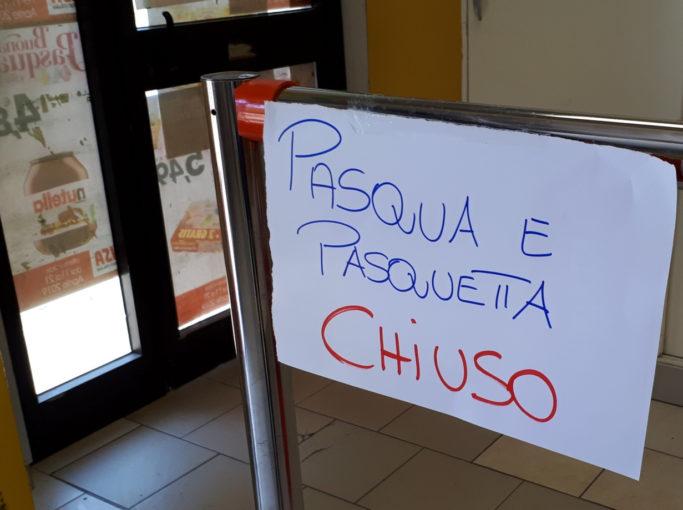 Bari: Pasqua e Pasquetta chiusura totale dei negozi