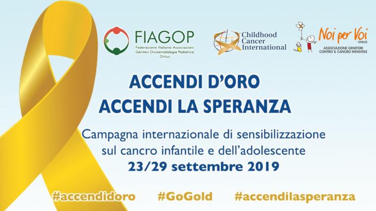 """Bari: campagna nazionale di sensibilizzazione sul cancro infantile """"Accendi d'Oro, Accendi la Speranza"""""""