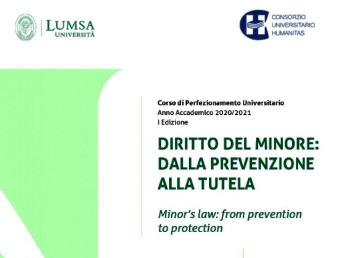"""Nuovo corso di perfezionamento su """"Diritto del minore: dalla prevenzione alla tutela"""" organizzato dal Consorzio Humanitas e dalla LUMSA"""