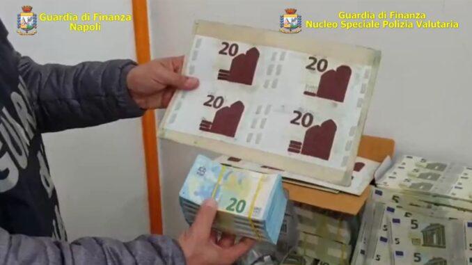 Napoli: sequestra una stamperia clandestina di banconote false