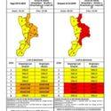 Allerta media in Calabria domani 21 novembre con forti fenomeni temporaleschi specie nella fascia ionica