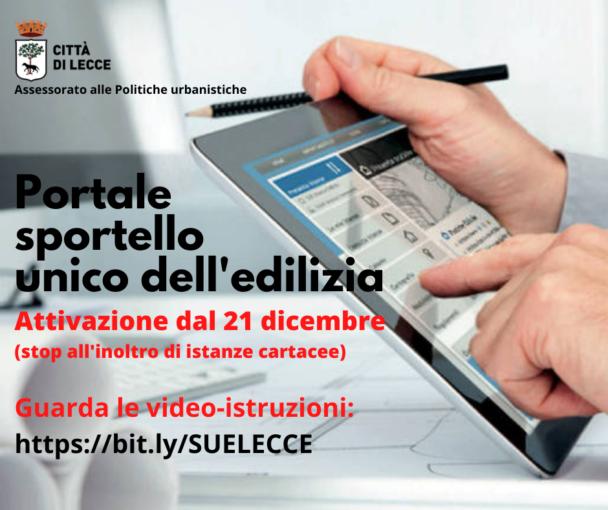 Lecce: Portale Sportello Unico per l'Edilizia, dal 21 dicembre solo pratiche online