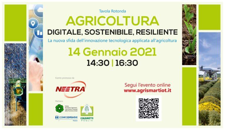 Agricoltura digitale, sostenibile e resiliente in Puglia: Neetra organizza una tavola rotonda con gli esperti