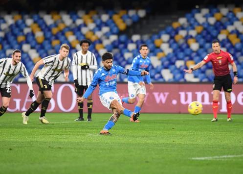 Serie A: Napoli-Juventus 1-0, Insigne di rigore fa 100 reti con la maglia azzurra