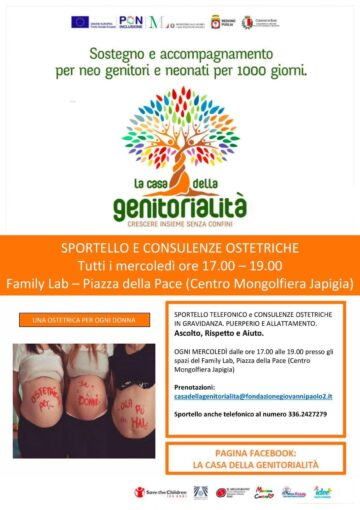 Bari: parte da domani  lo sportello di consulenze ostetriche sui temi della gravidanza, puerperio e allattamento