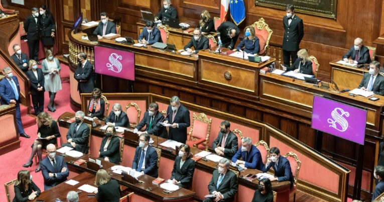 Il Senato vota la  fiducia al governo Draghi, oggi il passaggio alla Camera dei Deputati
