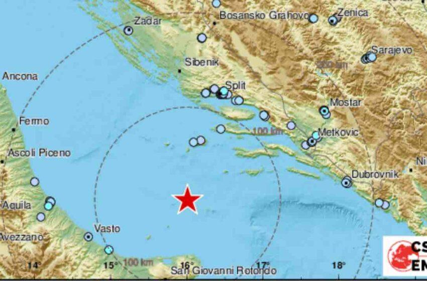 Violenta scossa di terremoto nel Mar Adriatico: avvertita nel centro-sud