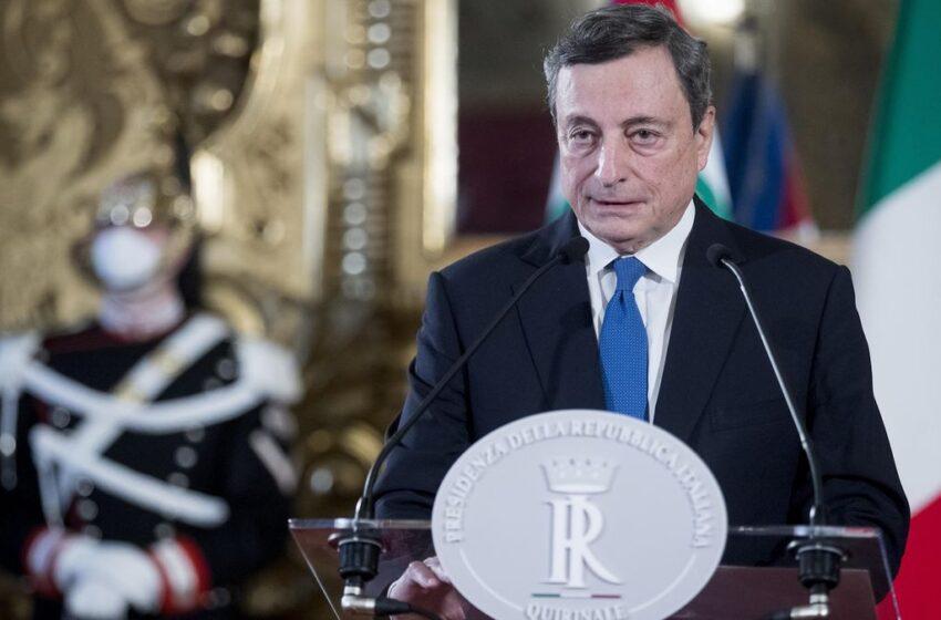 """Draghi: """"Fermare il divario Nord-Sud"""""""