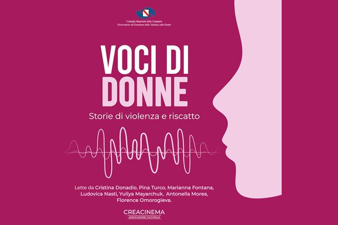 """Pubblicato """"Voci di Donne"""", audiolibro che racconta storie vere di violenza di genere e di riscatto lette da sette attrici"""
