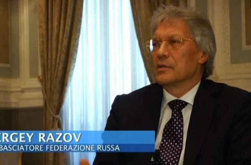 """Ambasciatore russo Razov:""""Contiamo che Roma  mantenga  dialogo"""""""