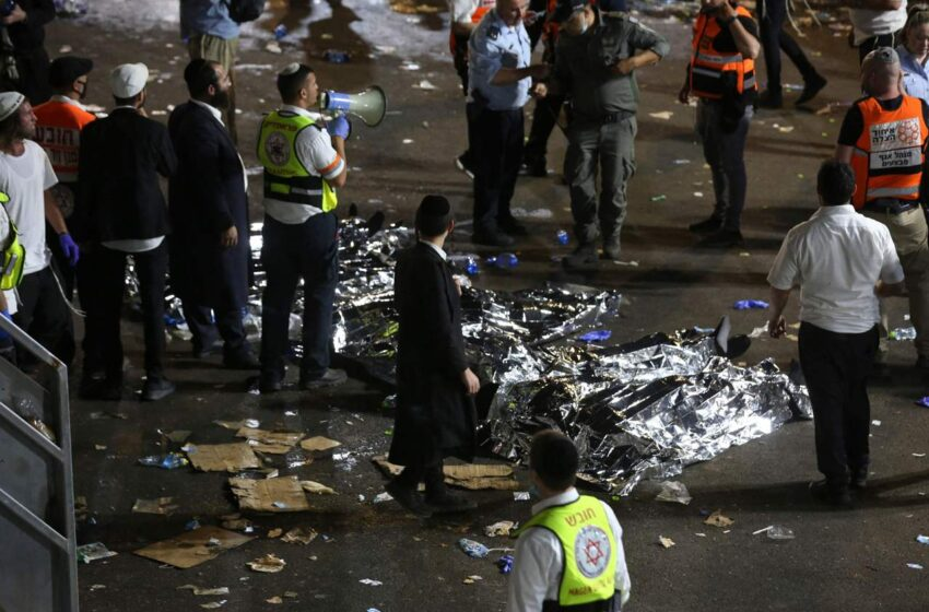 Tragedia in Israele: crolla stand durante festa ebraica, 44 morti e centinaia i feriti