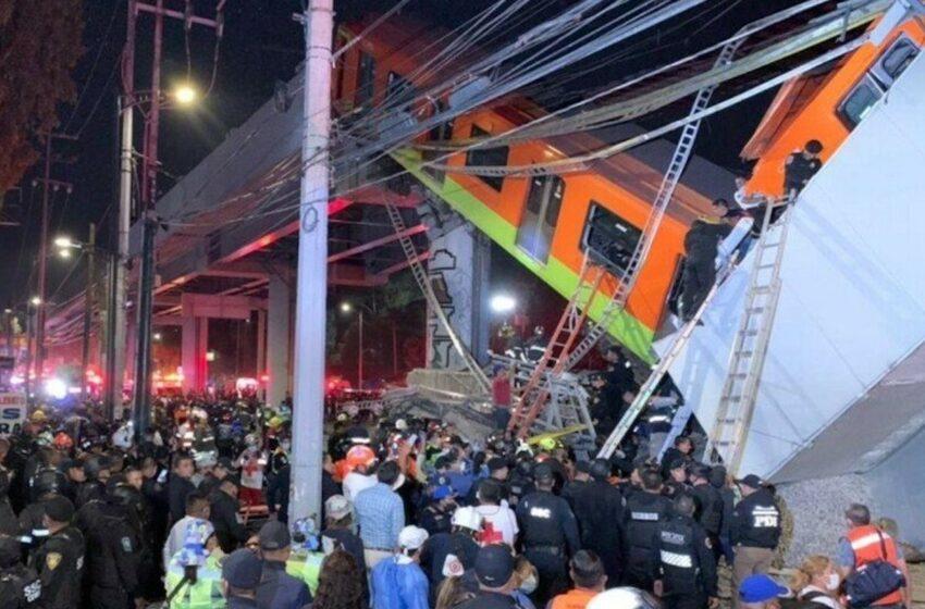 Crolla un cavalcavia della metropolitana di Città del Messico, 20 morti e 70 feriti