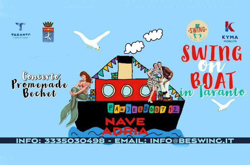 Taranto: a bordo delle Idrovie Kyma Mobilità Amat torna lo Swing!