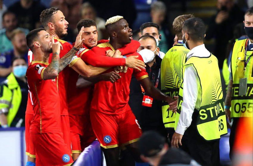 Europa League:Leicester-Napoli 2-2 firmato Osimhen